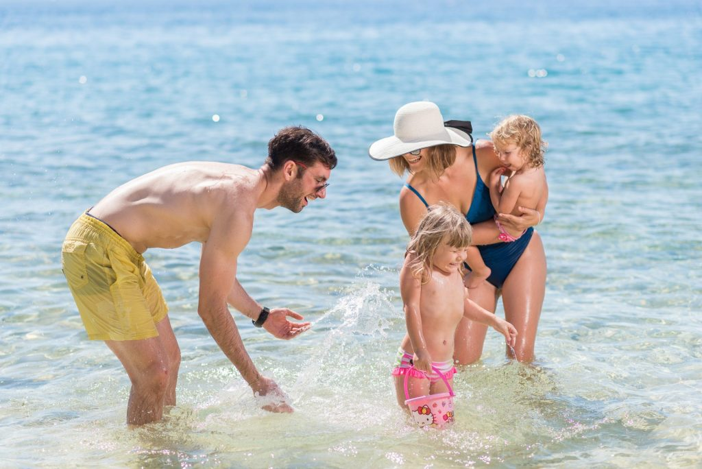 Wonderful moments on a family holiday at the seaside