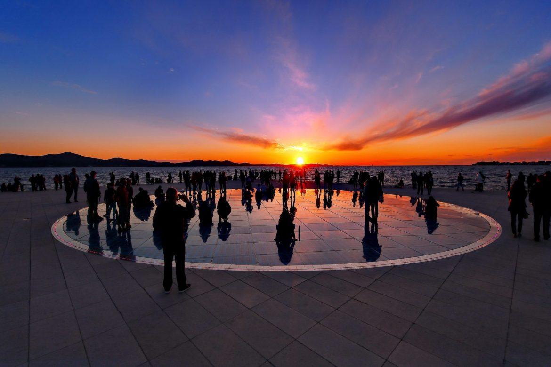 Sun Salutation and Sea Organ at sunset, Zadar